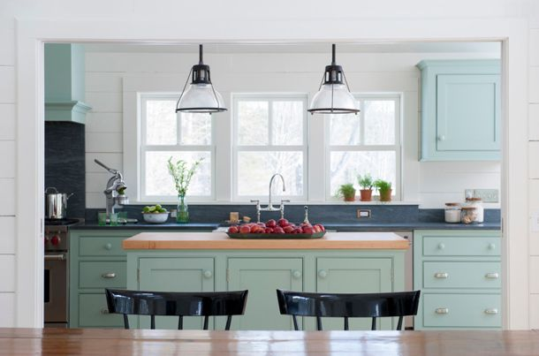 Cabinets Colors, Kitchens Design, Blue Green, Sell House, Kitchens