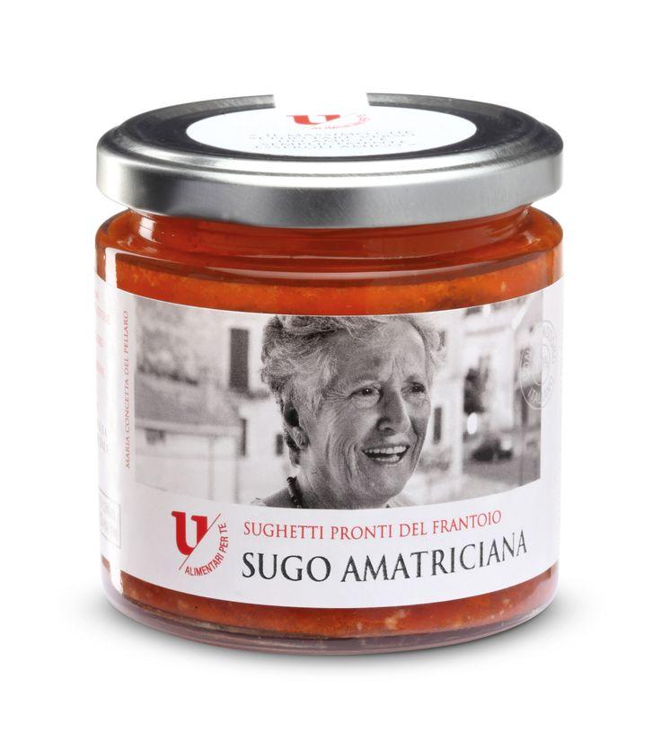 Linea U-Alimentari. Amatriciana sauce  #Ursini, #ricette, #primipiatti, #recipe