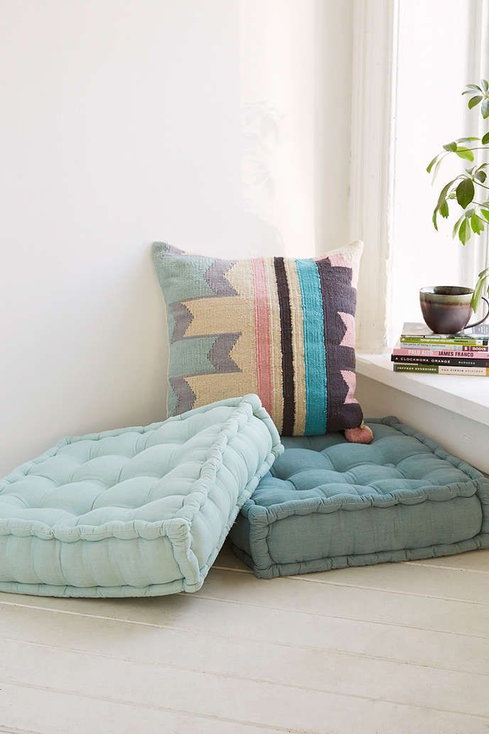 The pink one for emelia's reading corner Tufted Corduroy Floor Pillow - Urban Outfitters