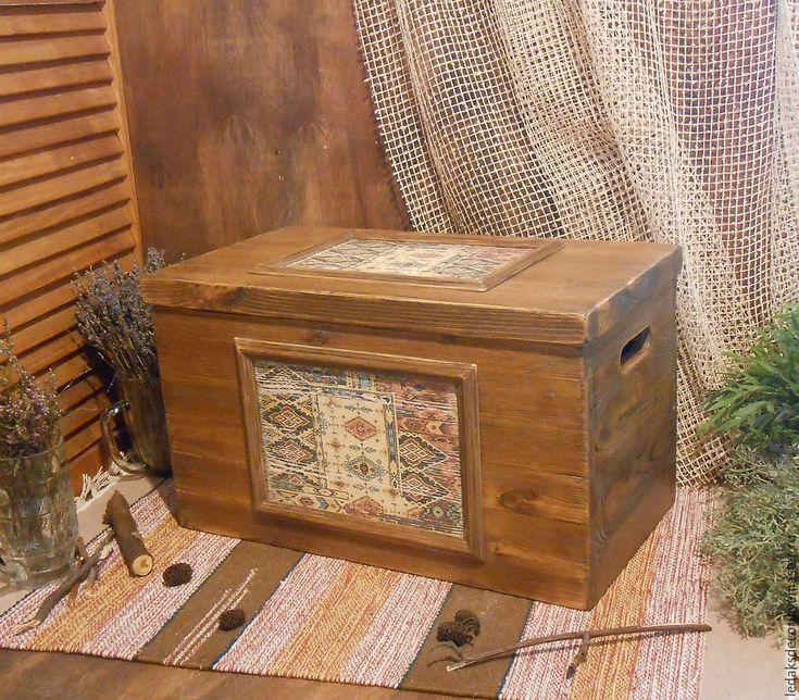 """Купить Сундук для хранения """"Последний из могикан..."""" - коричневый, сундук ручной работы, сундук из дерева"""