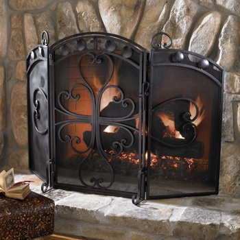 Sandoval Fireplace Screen   Perfect For A Wood Burning Fireplace.