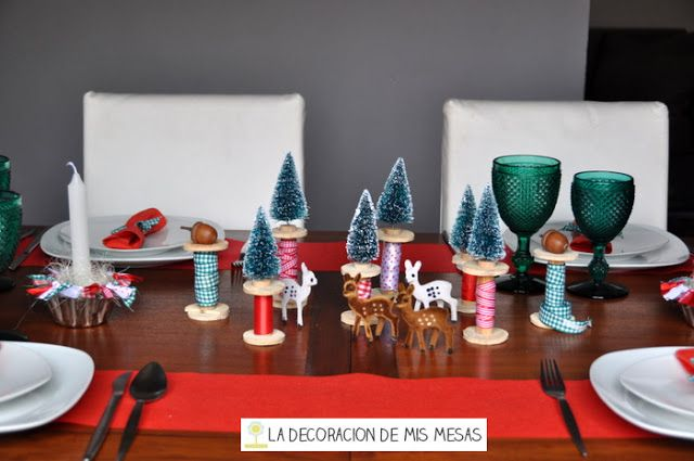 Pin by olga ribes on wonderful tables pinterest - Decoracion navidad mesa ...