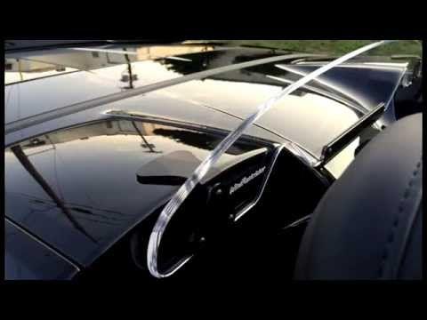 Lighted engraved convertible wind deflector windscreen blocker breaker