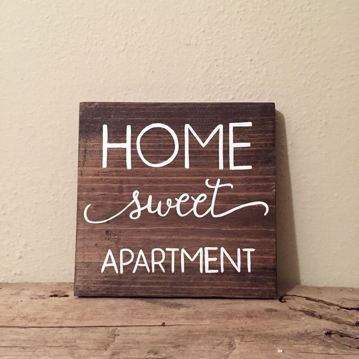 Home Sweet Apartment Wood Sign | Apartment Decor | College Student Gift