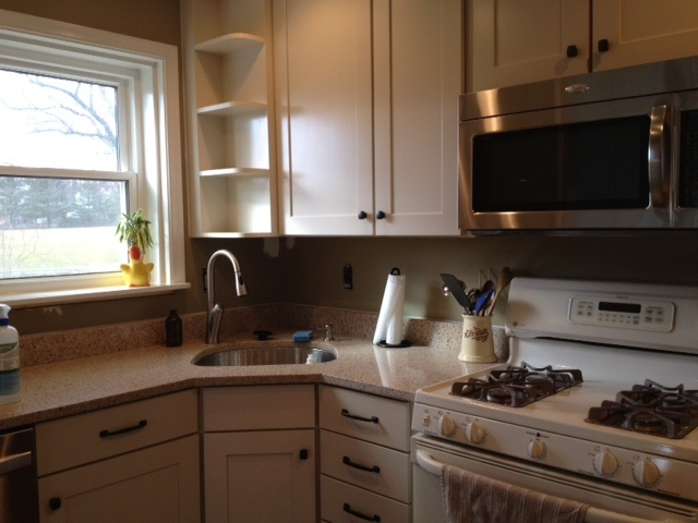 Bamboo Silestone Countertop Maple Cream Glaze Cabinets