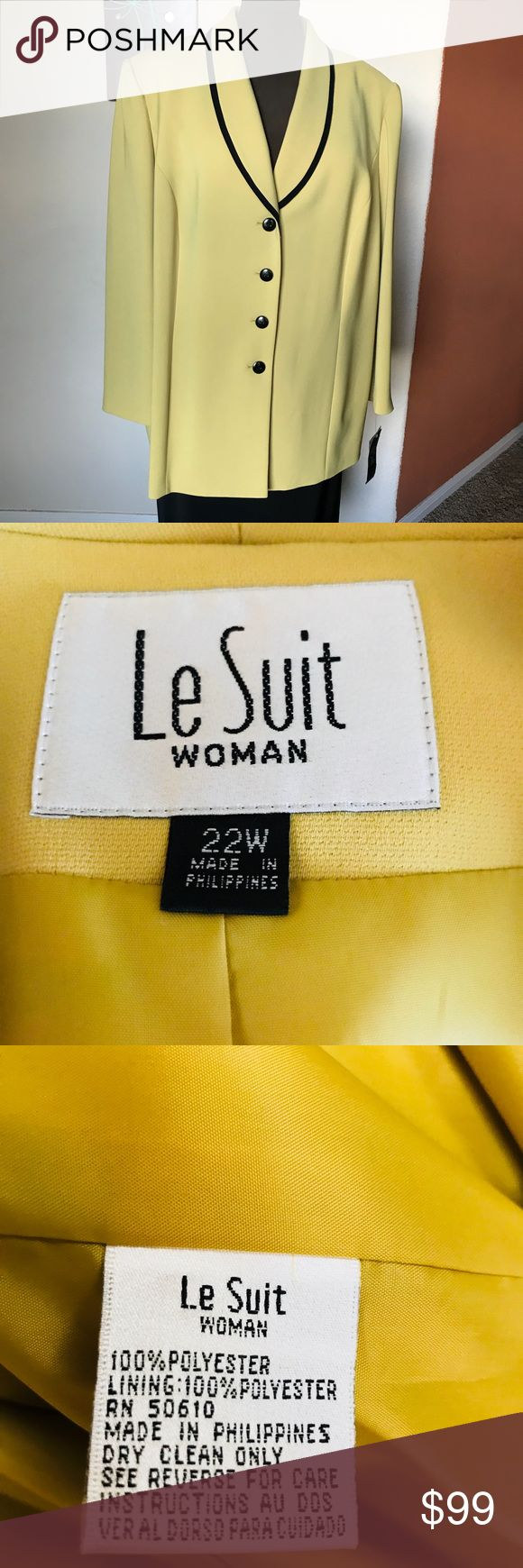 Business suit for women . Le Suit Woman . Great designer color . Business suit great details Le Suit Other