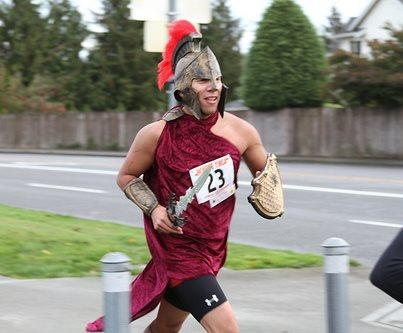 Warrior dashing costume. boorunrun.org