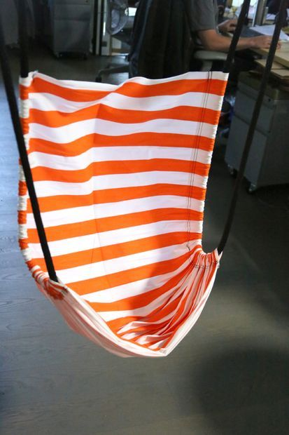 Easy, DIY hammock chair for the office or lounging.