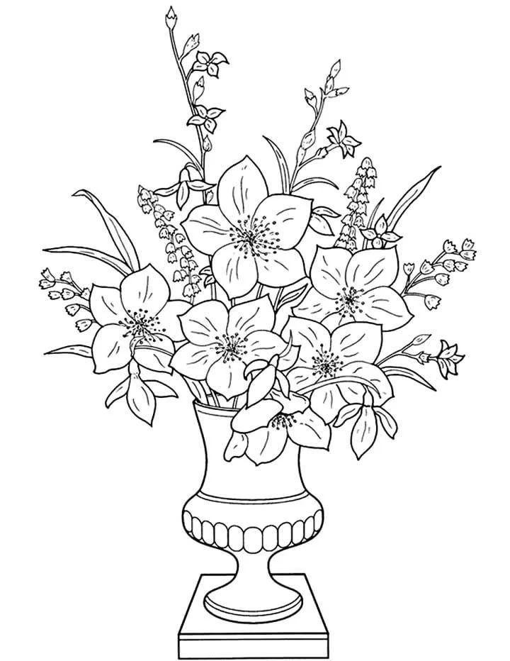 фото цветов в вазах нарисованные: 18 тыс изображений найдено в Яндекс.Картинках