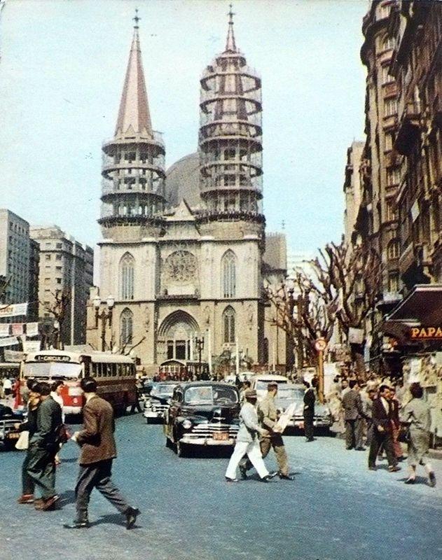 Praça da Sé, década de 1950.