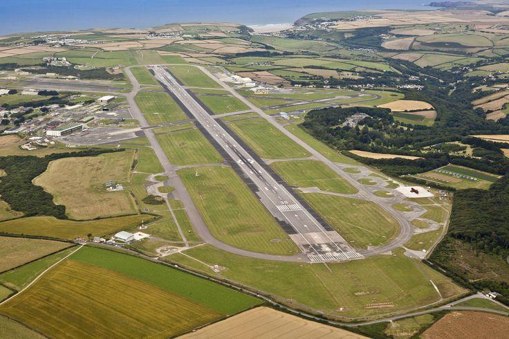 Aerohub Cornwall Airport Newquay, one of the longest runways in the UK!