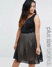 ASOS Curve | ASOS CURVE Embellished Cluster Crop Top Mini Dress