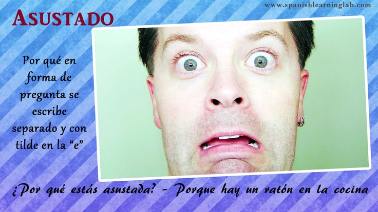 """Scared: Why are you scared? – Because there is a mouse in the kitchen. """"Por qué"""" as used in questions is written separately and with tilde over the vowel """"e""""."""
