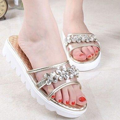 Platform Pu Peep Toe Stylish Sandals Shoes