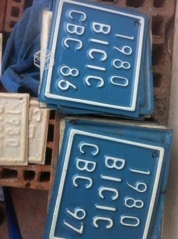 Placas patente de bicicletas (Chile).