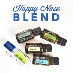 """This kids' blend is ideal for temporary relief of a stuffy nose. Don't have all the oils in this blend? That's ok! Breathe and Lemon can do the trick too-…"""