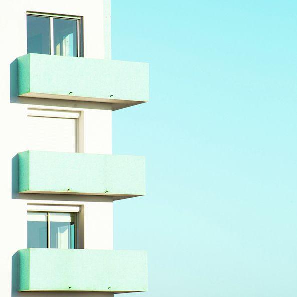It's Nice That : Matthieu Venot's colourful, geometric shots of pastel buildings