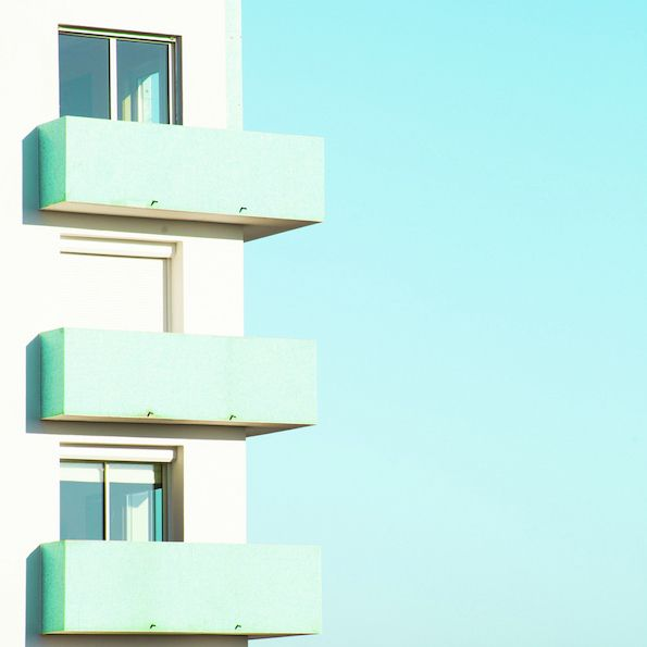 It's Nice That : Matthieu Venot's colourful, geometric shots of pastel buildings