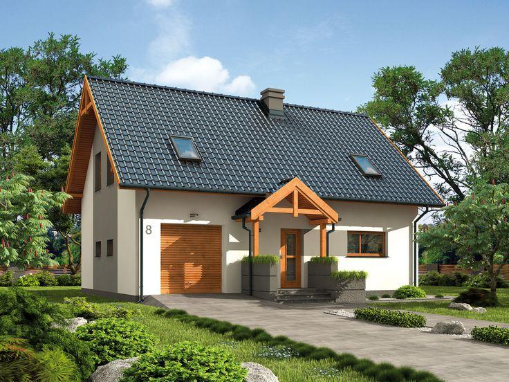 DOM.PL™ - Projekt domu PT Rio wersja murowana CE - DOM PD10-91 - gotowy projekt domu