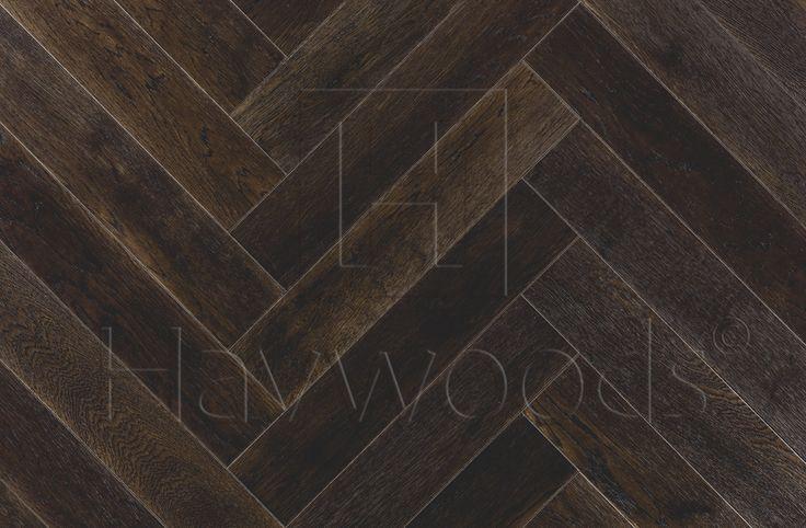 HW696 Oak Burnish Select Grade Herringbone Engineered Oak Timber Flooring Blocks Havwood
