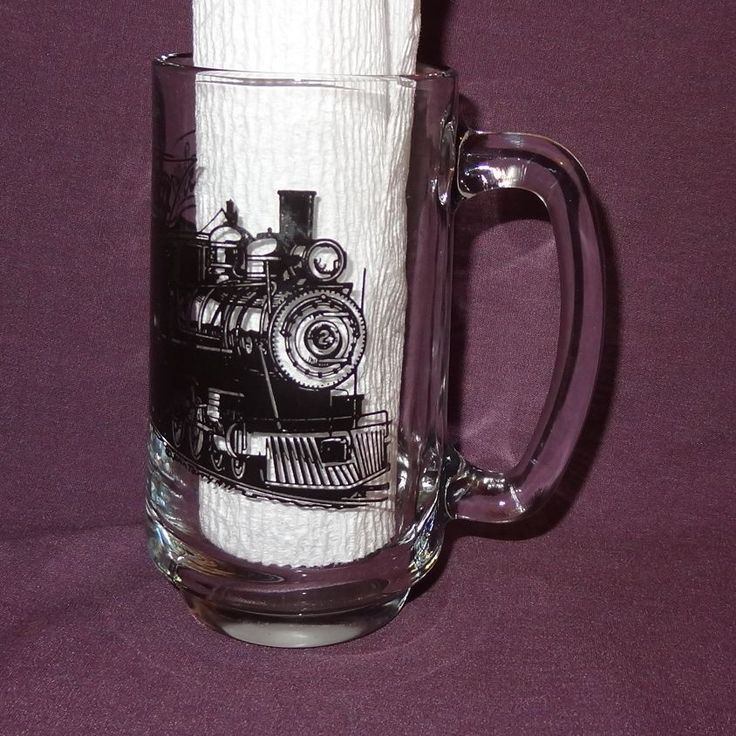 Train engine with passenger cars and caboose coffee mug cup. Item: Coffee Mug / Cup. Color: Clear, Black. Hold: 12 ounces. | eBay!