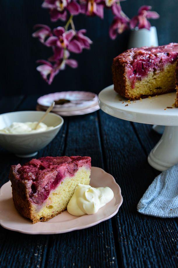 Strawberry and Rhubarb Upside Down Cake // The Hungry Australian