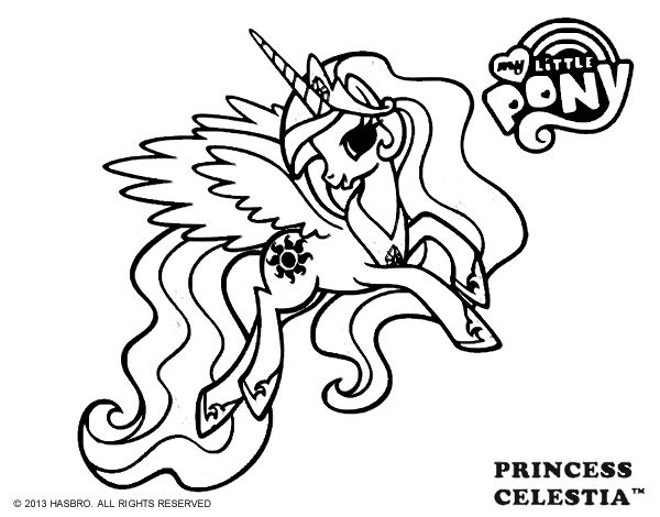 baby coloring pages celestia - photo#31