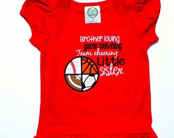 Little Sister Shirt - Game Day Shirt - Sports Sister - Baseball Basketball - Soccer Football - Sports Sayings - Spirit Shirt - Sister Shirt by fabuellaboutique. Explore more products on http://fabuellaboutique.etsy.com