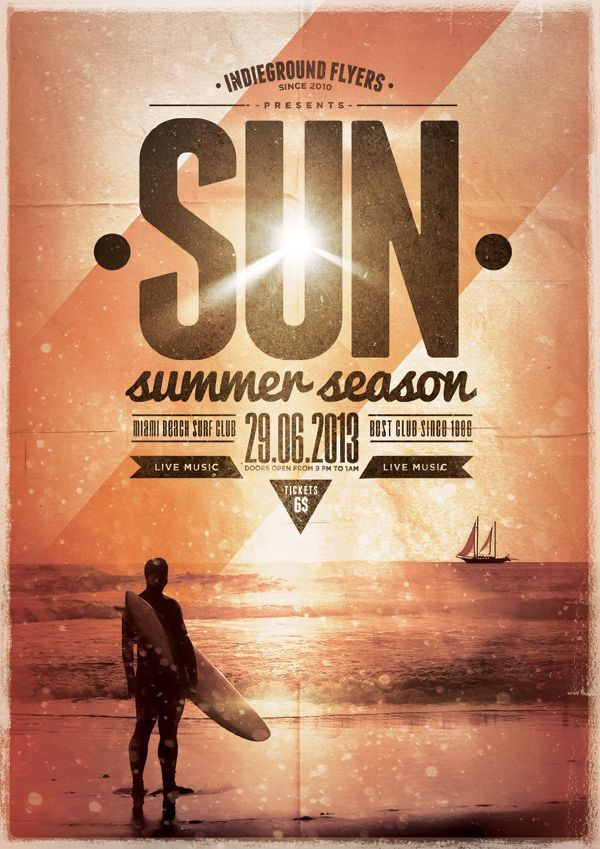 Summer Flyer Templates Vol. 1-3 by Roberto Perrino, via Behance