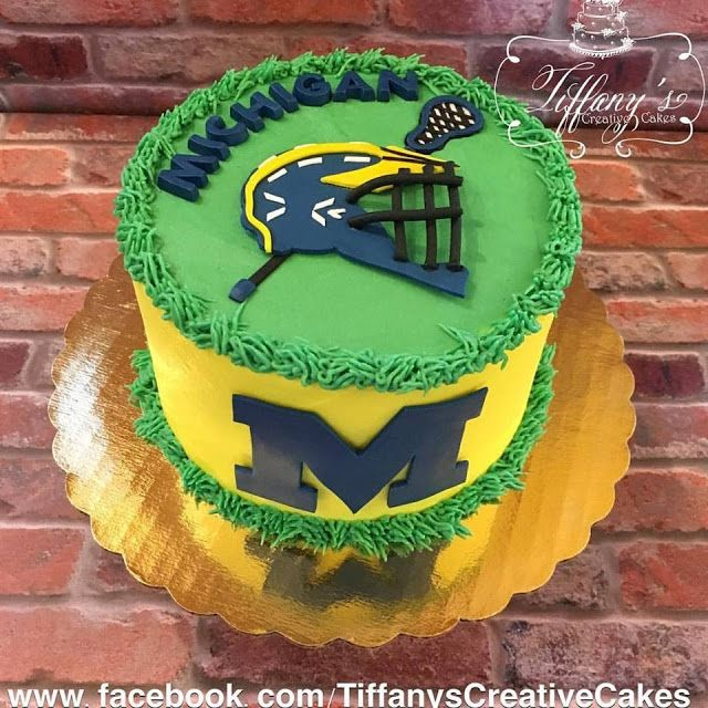 Michigan Lacrosse Cake Springboro Ohio Tiffany's Creative Cakes