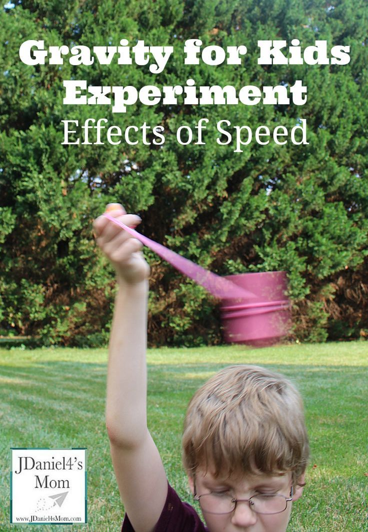 Gravity for Kids Experiment- Effects of Speed