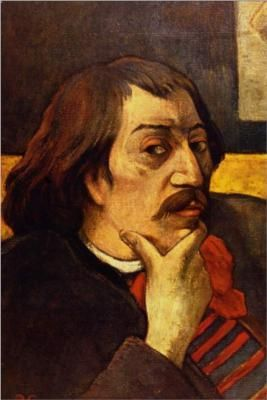 Self Portrait by Paul Gauguin (French, 1848–1903). A Symbolist and Post-Impressionist painter, he was active between 1873 and 1903. His periods are defined as: Early works, Breton period, 1st Tahiti period, Paris period, and 2nd Tahiti period