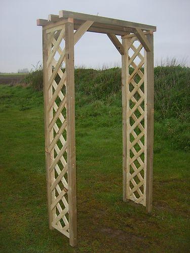 £60 Wooden Garden Arch | eBay 6ft2 x40 x90