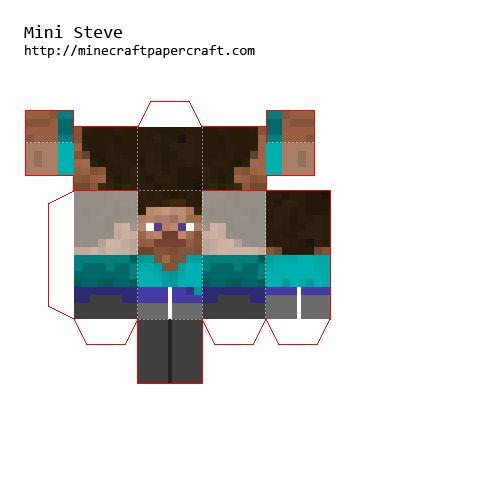 Papercraft Mini Steve | Theme- Mindcrap | Pinterest ... Minecraft Crafting Ideas Xbox 360