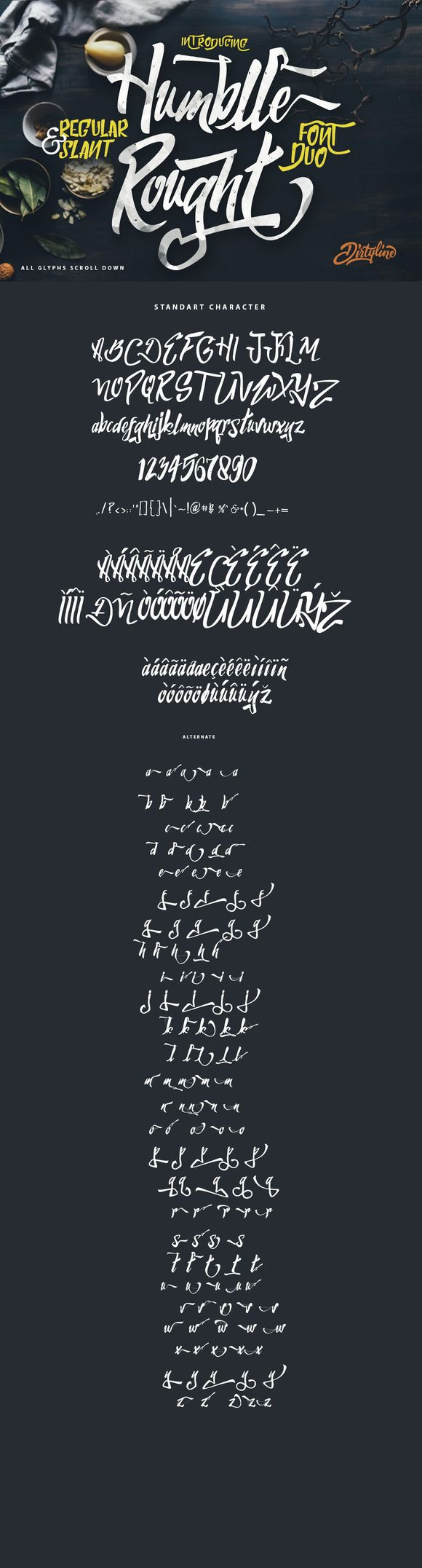 Humblle Rought - Font Duo + Extras by Dirtyline Studio on Creative Market