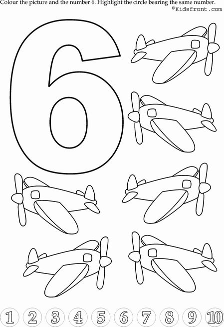 Kids Math Learning, Kids Math Activities, Numbers with Pictures - Nursery Math Printable Exercise -6
