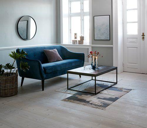 Canapea Egedal 2 5 Loc Velur Bleumarin Jysk Apartament In 2019