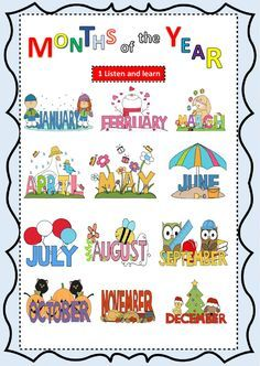 The months of the year interactive and downloadable worksheet. Check your answers online or send them to your teacher.