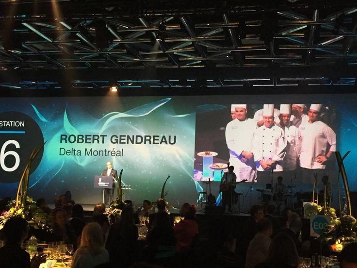 Notre chef éxécutif Robert avec le reste de l'équipe lors du Gala Reconnaissance au Palais des Congrès. #montreal