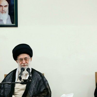 Supreme Leader of Iran Ali Khamenei and  president of Iran Hassan Rouhani. (Photo: AY-COLLECTION/SIPA/Newscom)