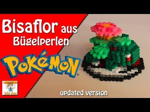 DIY Bisaflor -Venusaur - pokemon 3D Bügelperlen Tutorial - Perler Bead - YouTube
