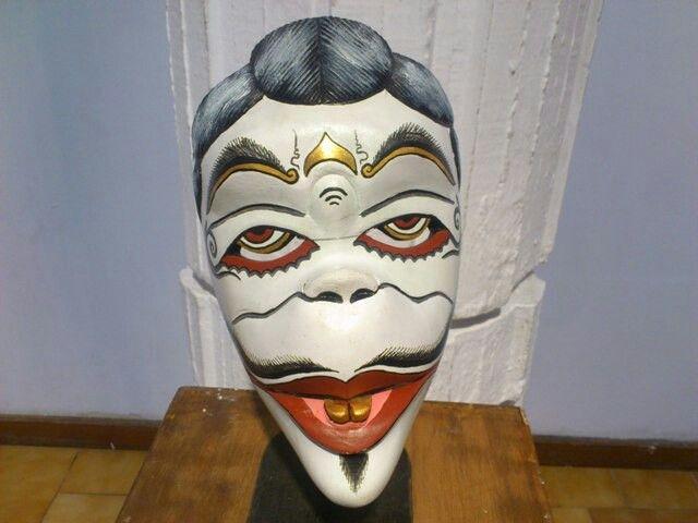 Semar mask. #javanese #java #mask #traditional #sculpture #indonesia #semar #punakawan