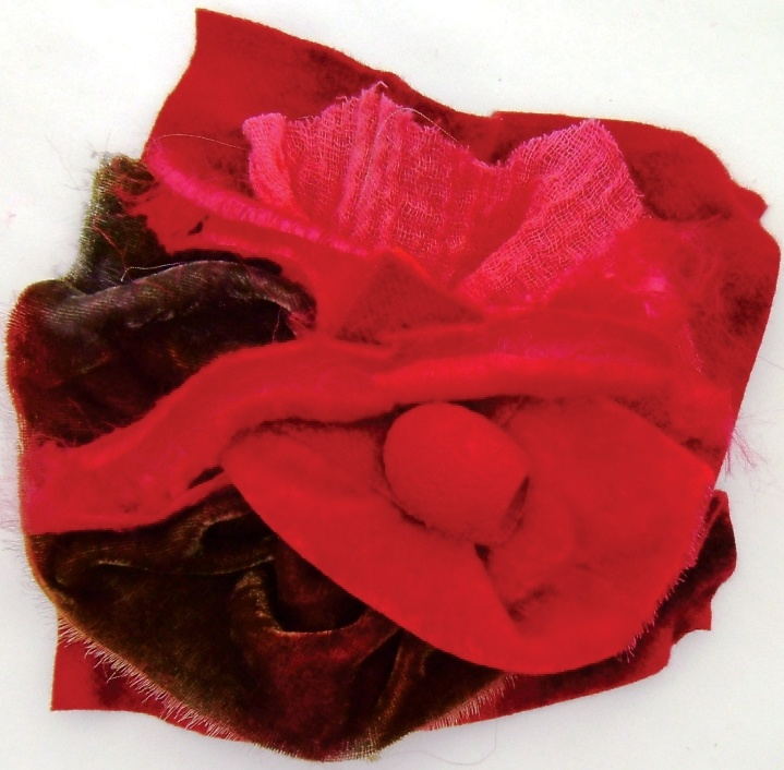 Incorporate silk velvets, hand-dyed wool felt, silk rods and cocoons and some basic hand-stitching, and be amazed at the lovely exotic flowers you can create.
