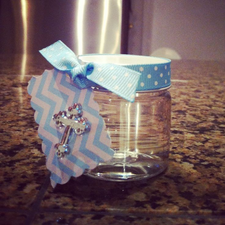 Baptism favor (holly water)Like us on FB! http://www.facebook.com/superglampartydecor
