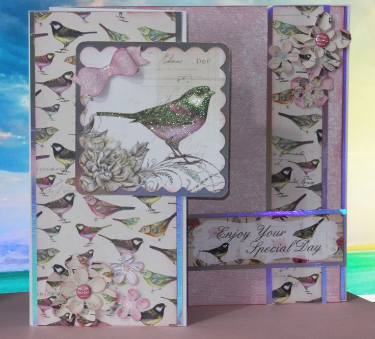 Made with the Craftwork Cards Botanica items.