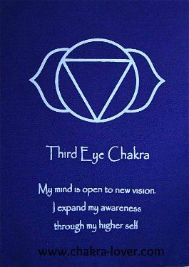 Third Eye Chakra information. Affirmations, yoga, oils, herbs, meditation.
