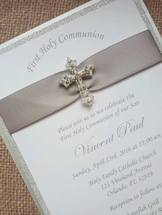 24x First Holy Communion Invitations by MyPrettyLittleParty