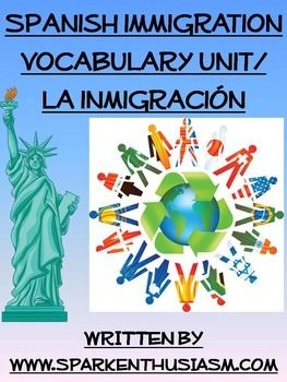 Immigration Spanish Vocabulary Unit with videos and articl
