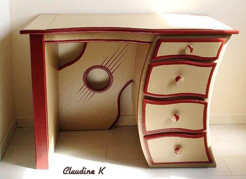 bureau rigolo mobilier de r cup et carton pinterest bureaus. Black Bedroom Furniture Sets. Home Design Ideas