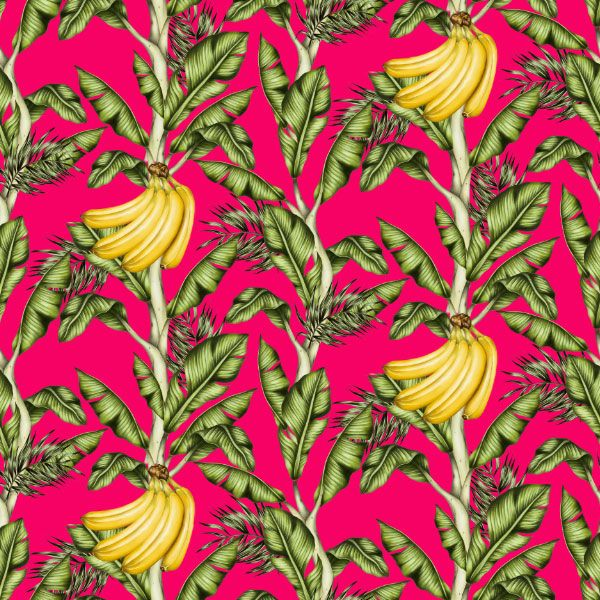 GO BANANAS Charlotte Jade's hand drawn pattern design. We believe in bringing the beauty of the outside world inside, with our hand drawn patterns for luxury interiors. WALLPAPER. CUSHIONS. UPHOLSTERY FABRICS. CERAMIC TILES